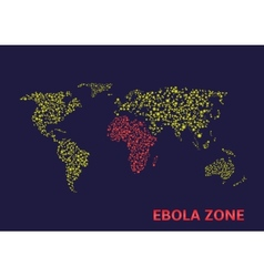 Ebola zone vector image vector image