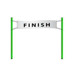 finish flag in retro design vector image vector image