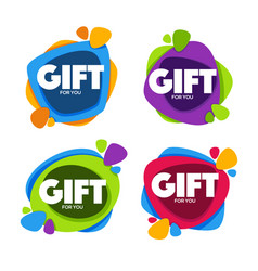 gift for you collection of bright congratulation vector image vector image