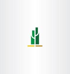 Green cactus logo sign vector