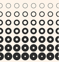 halftone rings seamless pattern abstract texture vector image