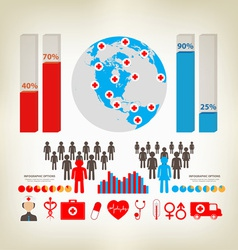 Health care elements infographic vector
