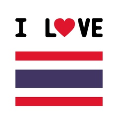 I love thailand8 vector