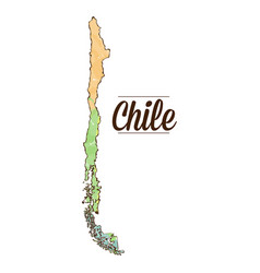 Isolated chilean map vector