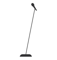 microphone music isolated icon vector image vector image
