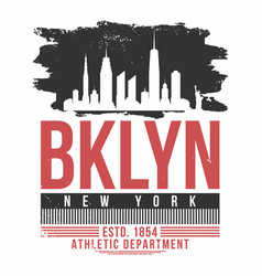 new york brooklyn typography for t shirt print t vector image vector image