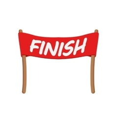 Red ribbon in finishing line vector