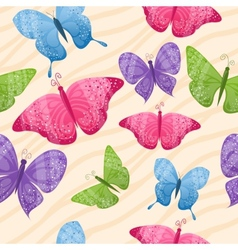 Seamless butterflies background vector image vector image