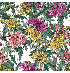 Seamless pattern with traditional homeplant vector