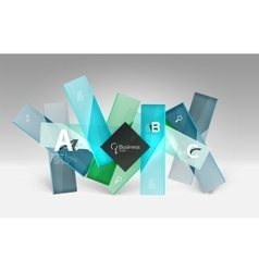 Shiny glass plate surfaces with text on 3d space vector image vector image
