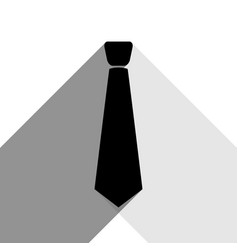 tie sign black icon with two vector image