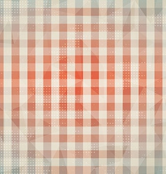 Vintage cloth seamless pattern with grunge effect vector