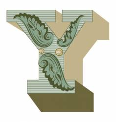 western letter y vector image vector image
