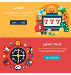 Casino games banners set vector