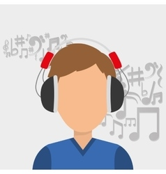 Musician listening melody vector