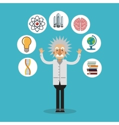 Colorful Einstein and science design vector image