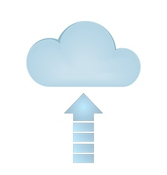 Cloud Upload vector image