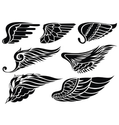 Decorative design wings vector image