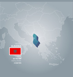 albania information map vector image