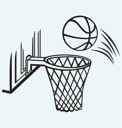 Basketball board vector image