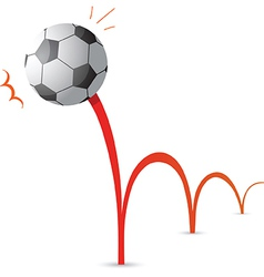 Bouncing soccer ball cartoon vector image