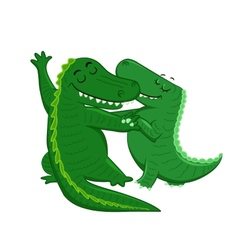 Dancing crocodiles vector