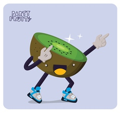 Kiwi character isolated vector