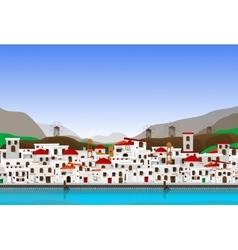 Vacation at Greece vector image