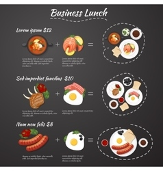 Business lunch menu vector