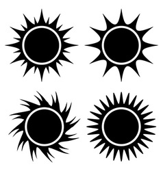 Sun and summer design vector