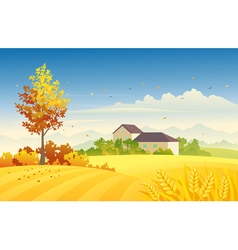 Rural autumn vector image