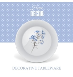 Advertising banner with decorative tableware vector