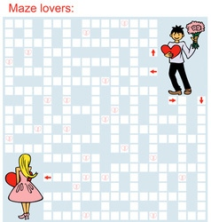 Maze loving couple vector