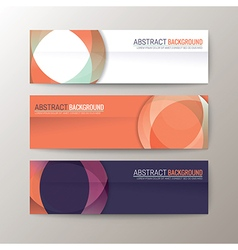 Set of modern design banners template vector