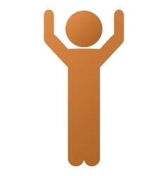 Child hands up gradient icon vector