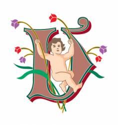 fairytale letter v vector image