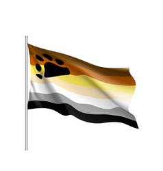 Bear brotherhood flag vector