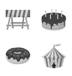Building food and other monochrome icon in vector