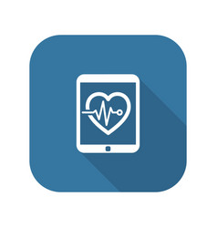 cardiogram and medical services icon flat design vector image