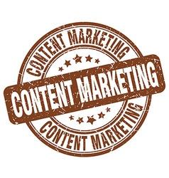 Content marketing brown grunge round vintage vector