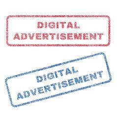 Digital advertisement textile stamps vector