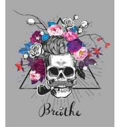 Fashion depicting skull vector image vector image
