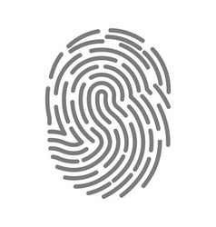 fingerprint of twisted lines sign isolated vector image vector image