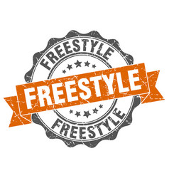 Freestyle stamp sign seal vector