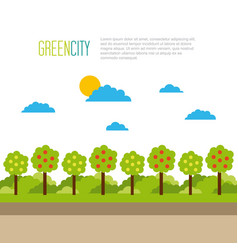 green city tree natural landscape environment vector image