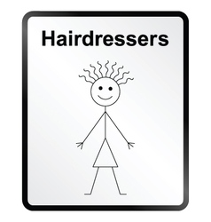 Hairdressers information sign vector