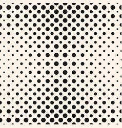 Halftone dots seamless pattern halftone circles vector