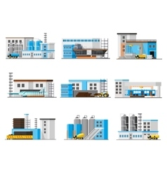 Industrial factory collection vector