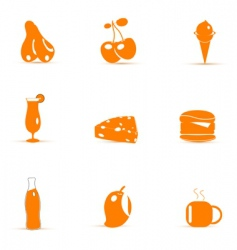 junk food icons vector image vector image
