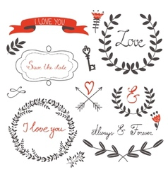 Love set with vector